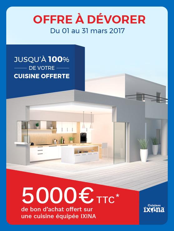Jusqu'à 100% de votre cuisine offerte avec Maisons France Confort et Ixina