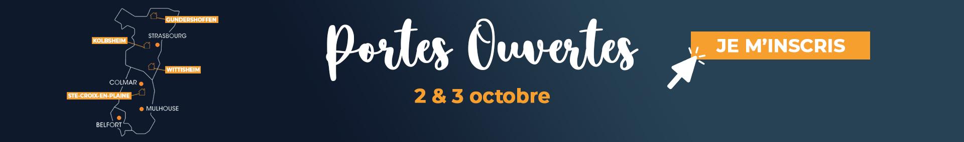 Portes ouvertes du 2 au 3 octobre