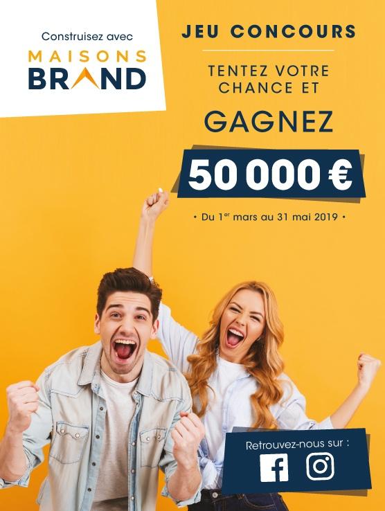 Du 1er mars au 31 mai 2019, tentez votre chance et gagnez 50 000 €