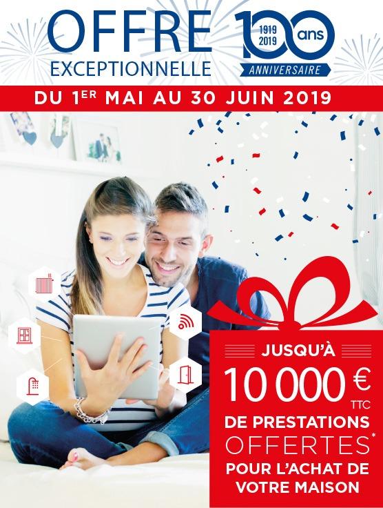 Du 1er mai au 30 juin 2019, juqu'à 10 000 € de prestations offertes